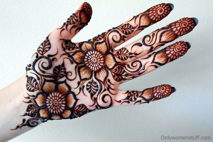 Mehndi Designs For Palm : How to apply easy simple palm mehndi designs for hands tutorial