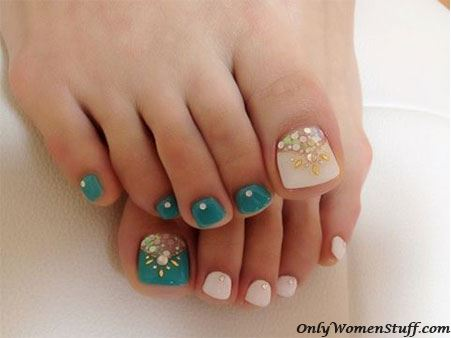 easy and beautiful toe nail art designs ideas - Toe Nail Designs Ideas