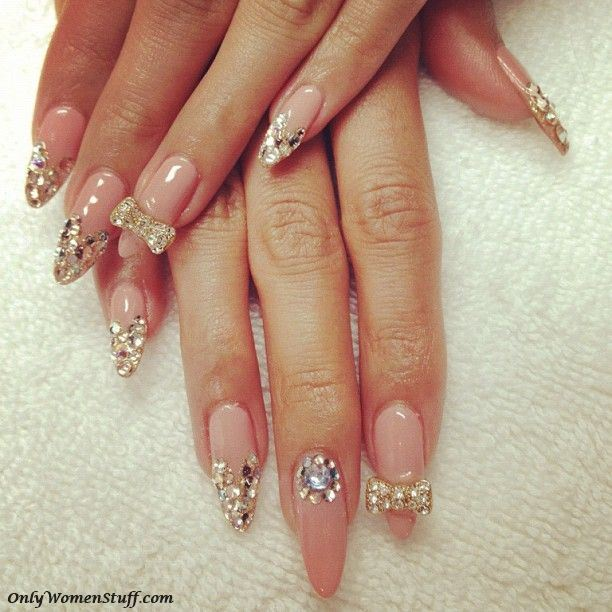 33 cute long nail art designs with pictures long nail designs cute long nail designs simple long nail designs beautiful long prinsesfo Choice Image