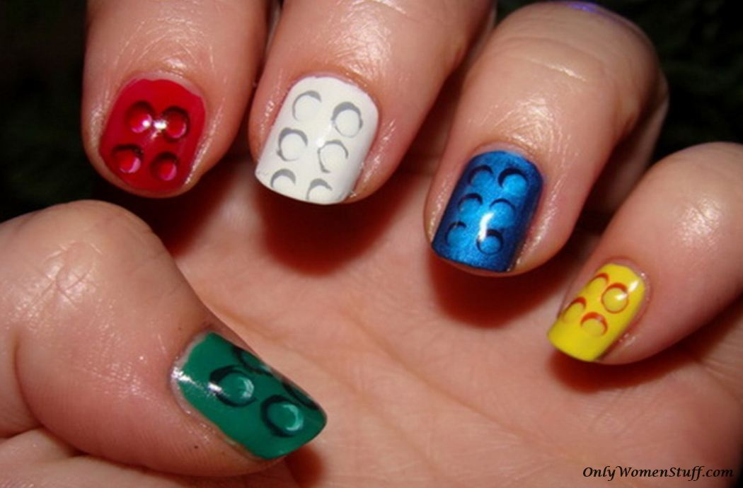 Short nails, short nail art, short nail designs, nail designs for short nails.