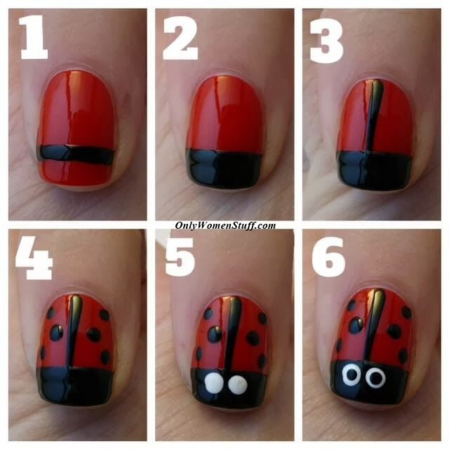 Step by Step Easy Nail Design for kids with Pictures - 20 Easy Nail Designs For Kids To Do At Home - Step By Step (Pictures)