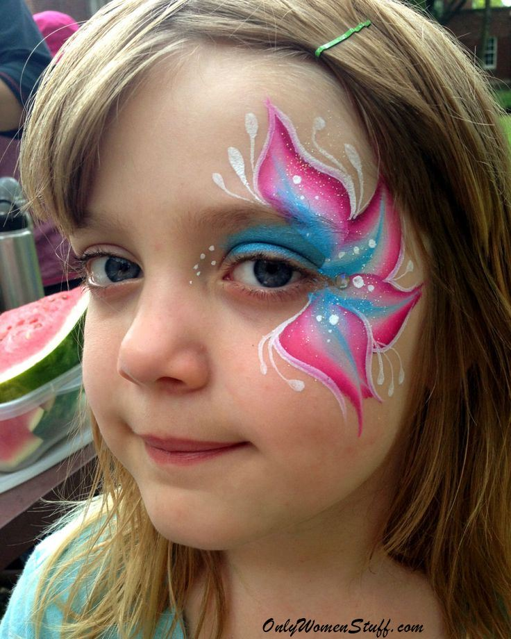 40 easy kids face painting ideas designs for little girls