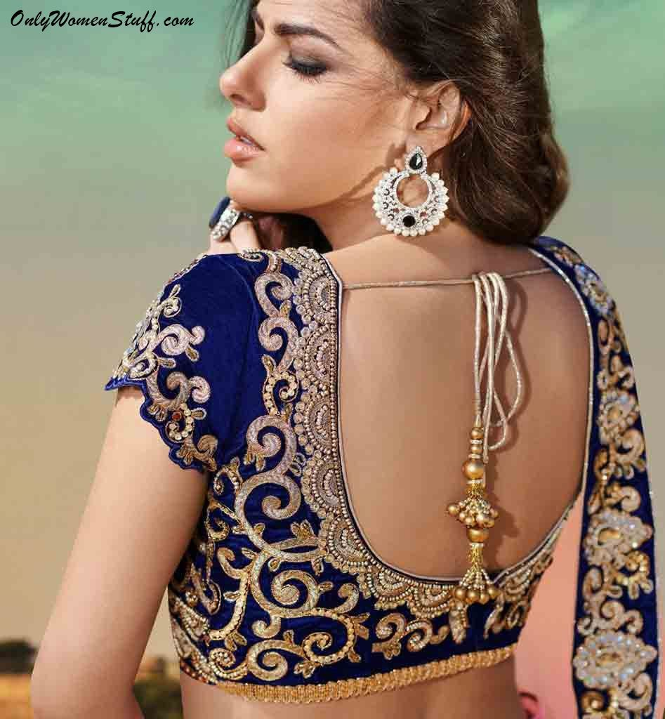 Blouse designs saree blouse back designs blouses neck designs 30 jpg - Blouse Designs Designer Blouse Saree Blouse Blouse Back Design New Blouse Design