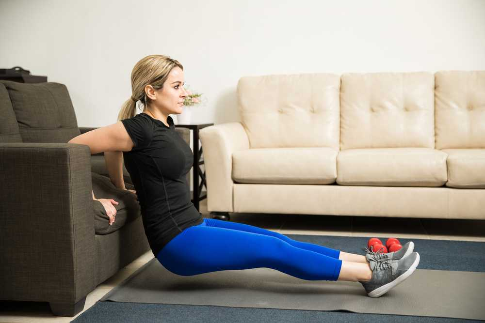 Tricep Dips Workout for busy mom, exercise for women at home, easy exercise to do at home for women and mom