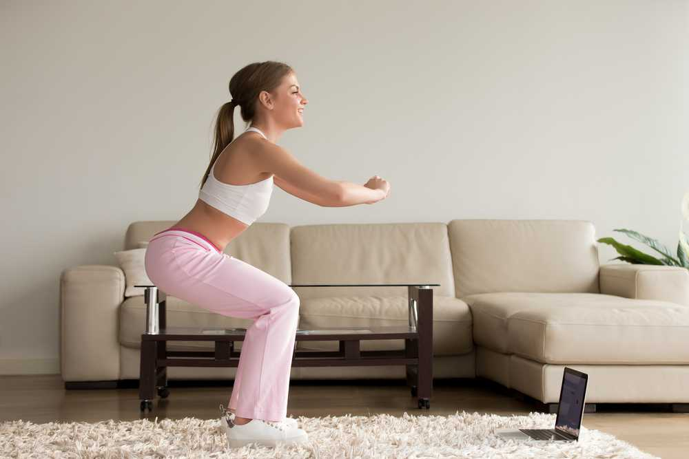 squat - Workout for busy mom, exercise for women at home, easy exercise to do at home for women and mom
