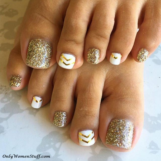 Toe nail art, toe nail designs, toe nail images, toe nail design pictures - 30+ Cute Toe Nail Designs Ideas - Easy Toenail Art