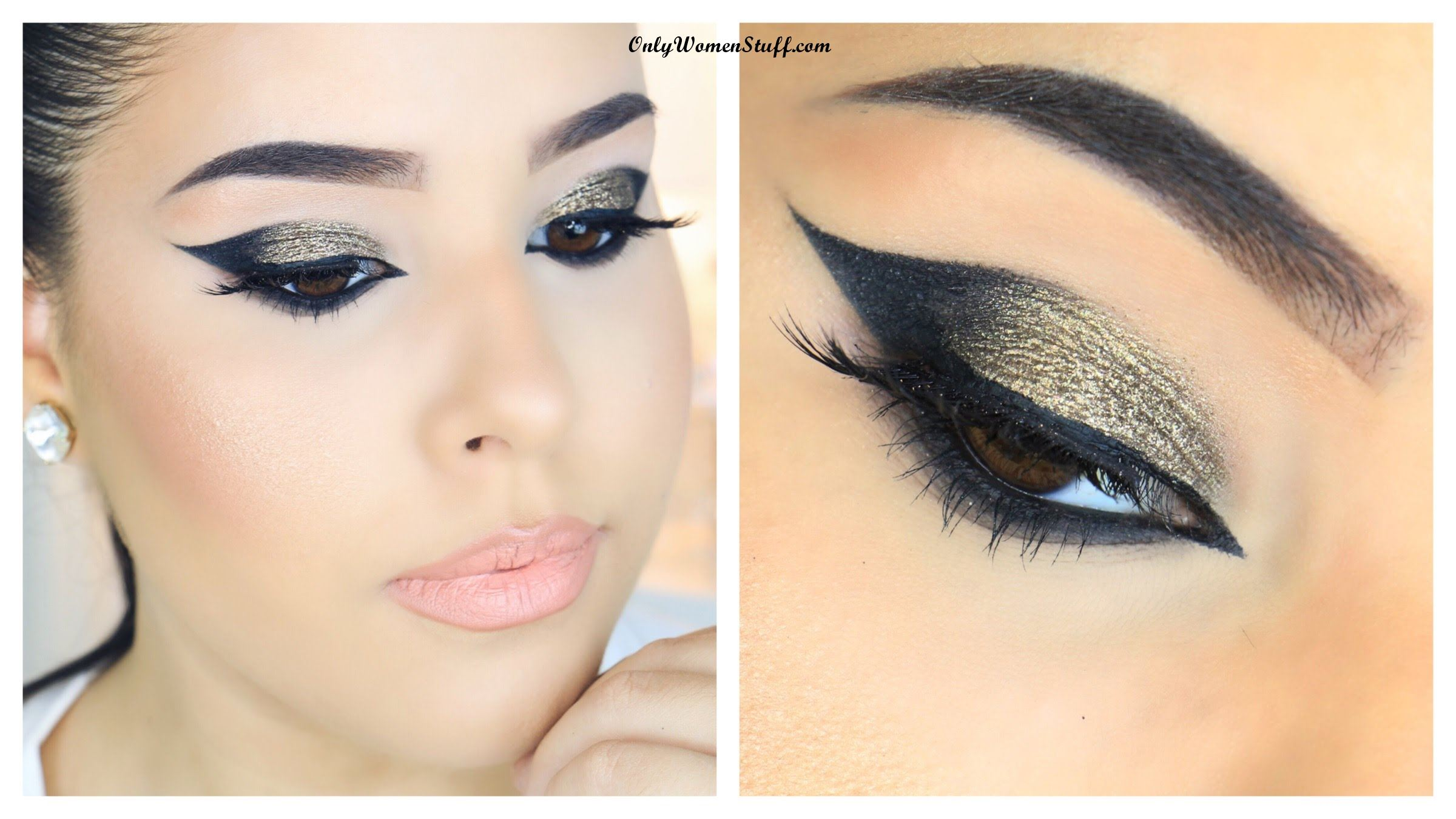 Gold Cat Eye Makeup