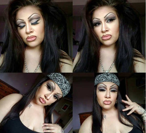 80's old school chola makeup tutorial youtube.