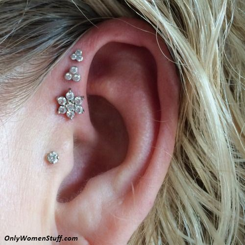 1000 cute ear cartilage piercing ideas and types. Black Bedroom Furniture Sets. Home Design Ideas