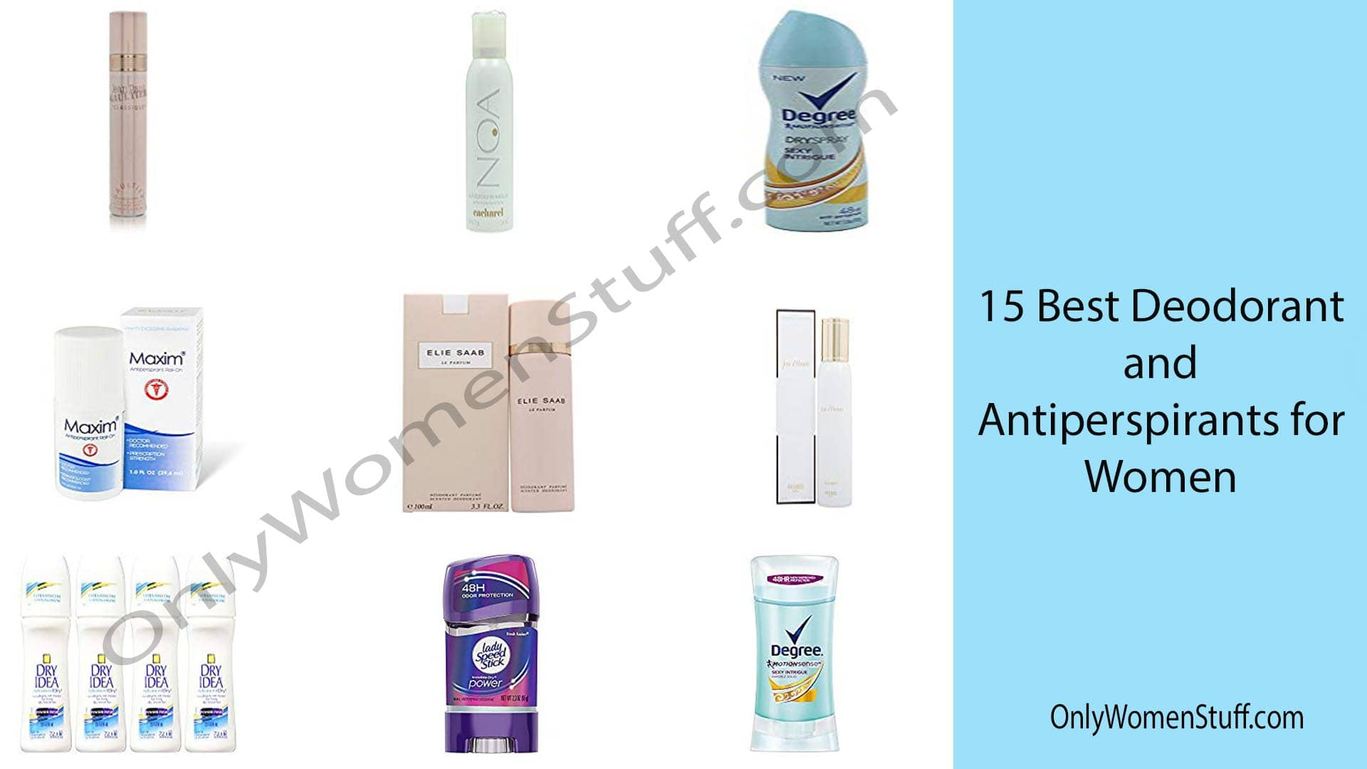 15 Best Deodorant And Antiperspirants For Women With Reviews