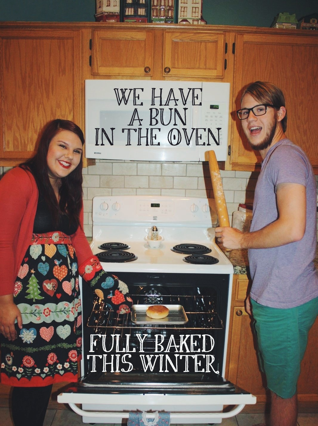 Freshly Baked Pregnancy announcement ideas for Facebook