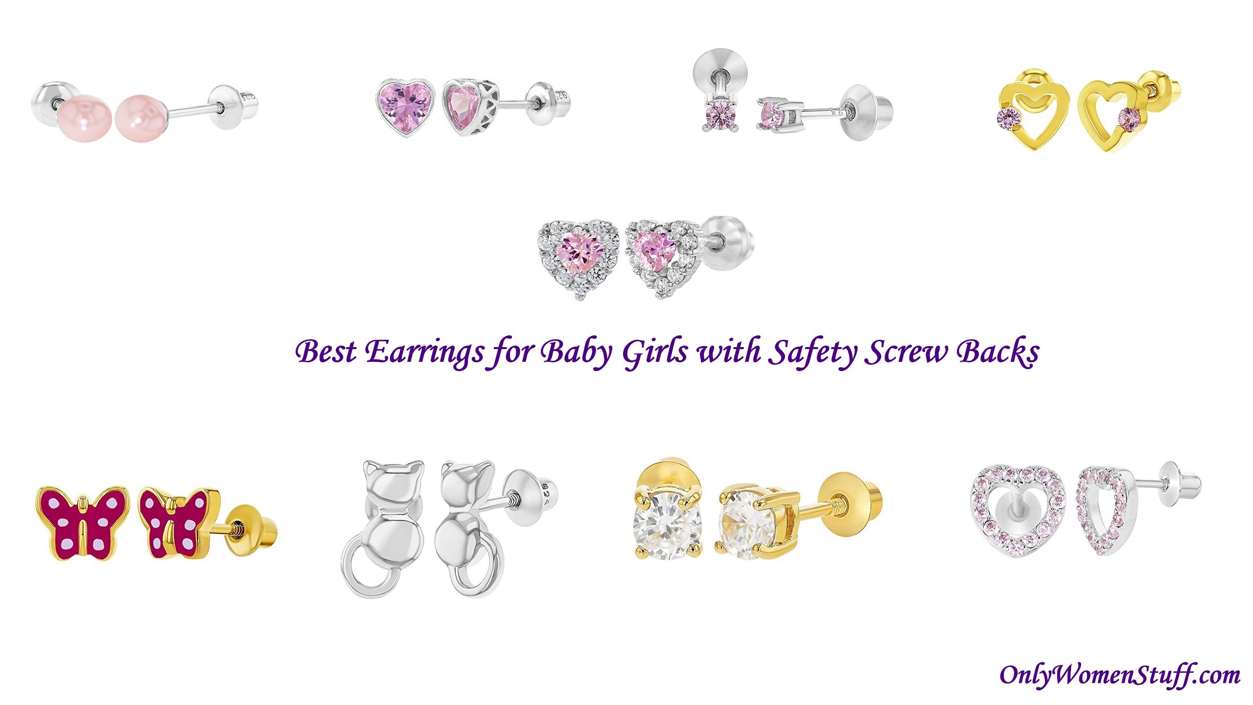 10 Best Earrings for Baby Girls With Safety Screw Back