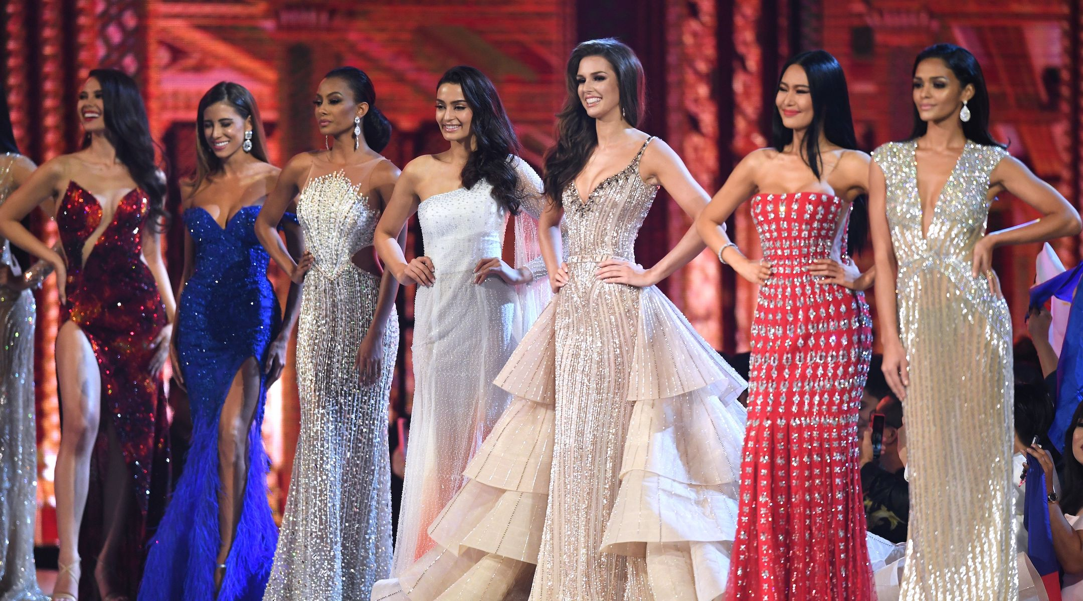 miss universe evening dresses